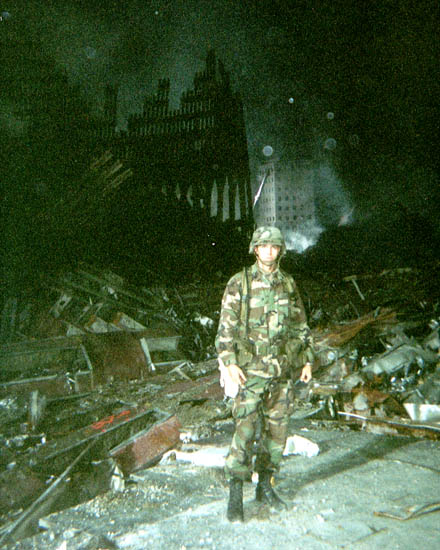 Me at Ground Zero, September, 2001