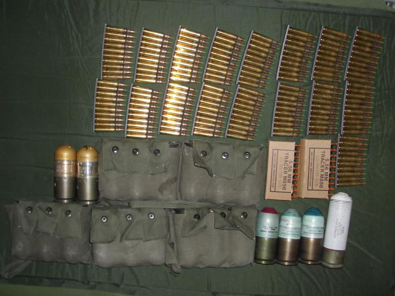 combat load of ammo