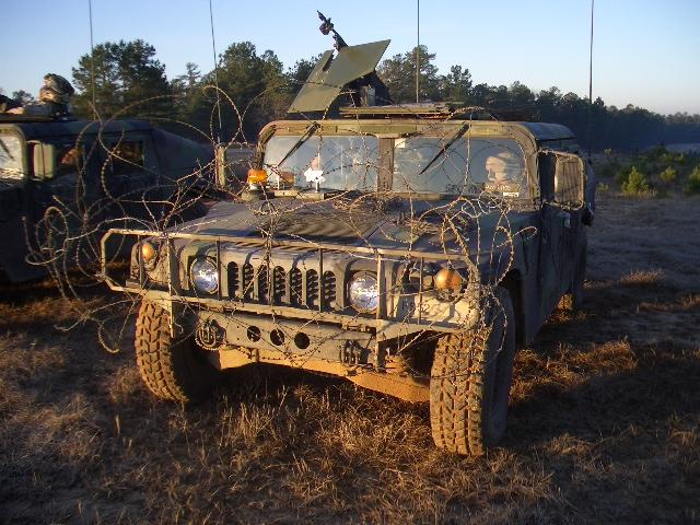 Humvee+concertina=awesome